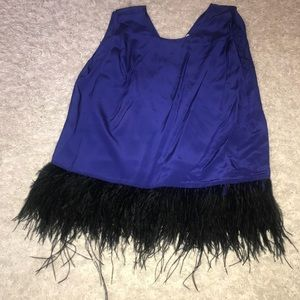 *NEW* Madison Marcus Royal Blue Feather Top sz M